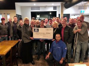 100 Men presenting cheque to Kinmount and Area Food Bank