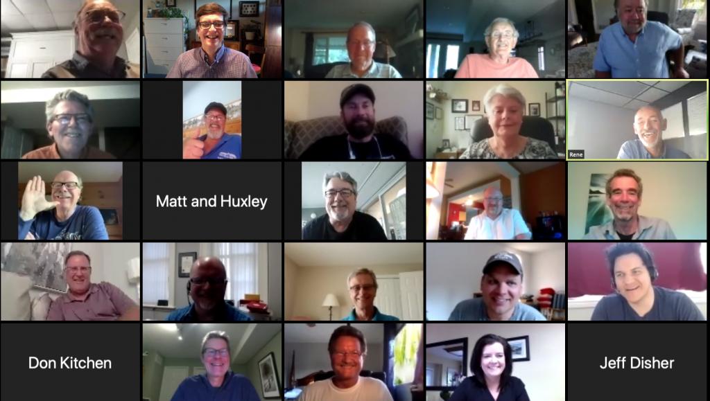 Zoom meeting 100 Men June 2020