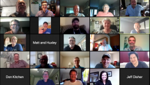 Zoom meeting 100 Men June 2020